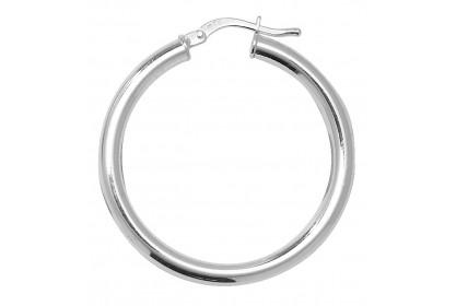 Sterling Silver Hollow Hoop Earrings